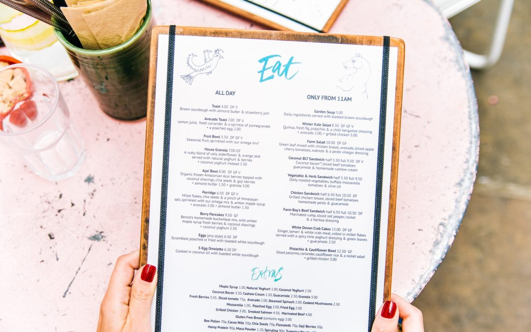 Creating Your Restaurant Menu Layout, Design & Size